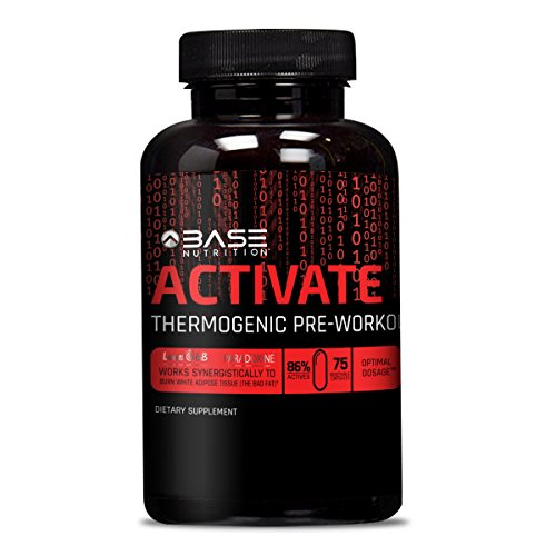Male Base - BASE ACTIVATE Pre Workout Supplement Pills for Men & Women - Thermogenic Preworkout Pills that Increase Strength, Energy & Weight Loss - 75 Capsules