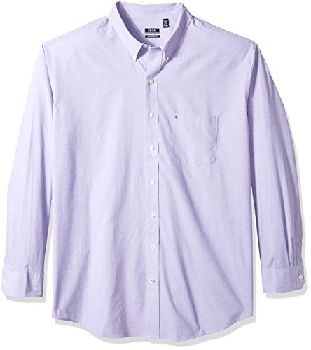 IZOD Men's Performance Natural Stretch Solid Long Sleeve Shirt (Big & Tall and Tall Slim) ()