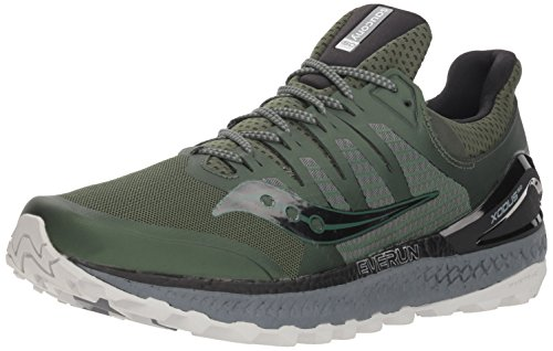 Saucony Men's Xodus ISO 3 Sneaker, Olive/Black, 11 M