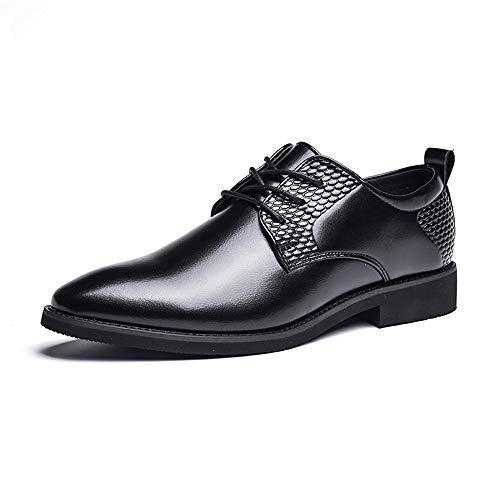 in Uomo 2018 Oxford 42 rotonda shoes e Nero Scarpe Pelle scarpe con da uomo Low camminare Dimensione uomo casa compagnia punta traspirante da formali Color vivere Top a Nero EU per Jiuyue Reparto 4wA5Rqvq