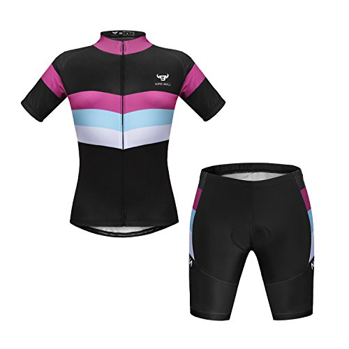 NINE BULL Women's Cycling Jersey Short Sleeve Quick-Dry Polyester Jacket Bike Clothes Set