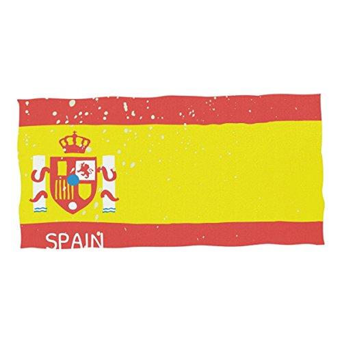 super3Dprinted Distressed Spain Flag Beach & Pool Towel 74 x 37 inch by super3Dprinted