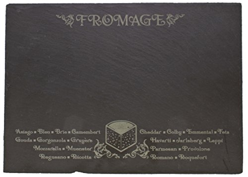 Thirstystone Etched Fromage with Chalk Slate Menu Board, ()