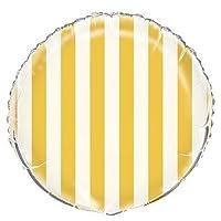 "18"" Lovely Yellow Stripe Infatable Balloon"