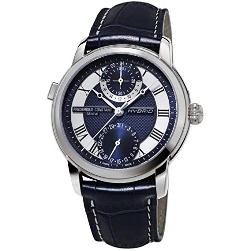Frederique Constant Hybrid Navy Dial Manufacture Automatic Mens Smart Watch FC-750MCN4H6