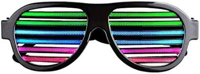 DJ LED Glasses Light Up Glow Flashing Sunglasses Eyewear DIY Nightclub Party USB