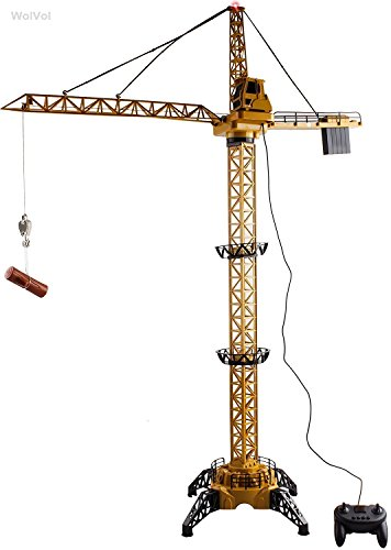 Wolvol 50 Inch Tall Wired Remote Control Crawler Crane Toy For