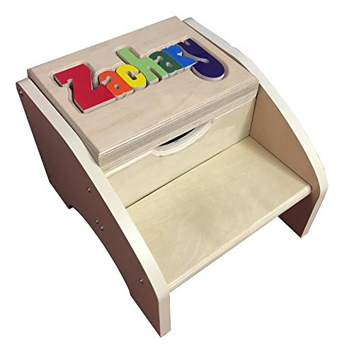 Personalized Primary Two Step Name Stool - 8 Letters