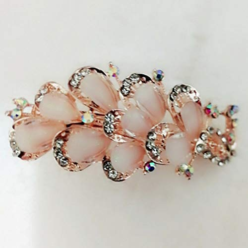 2018 Women Girls Crystal Rhinestone Flower Barrette Hair Clip Clamp Hairpin New (StyleID - 116)