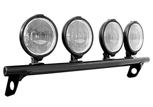 N-FAB D094LB Gloss Black Light Bar; Light Tabs Dodge Ram 1500  09-18 (N Fab Bumper Dodge Ram)