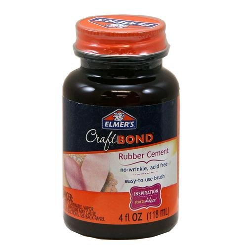 Elmer's CraftBond Acid-Free No-Wrinkle Rubber Cement 4 fl oz, 2 pack