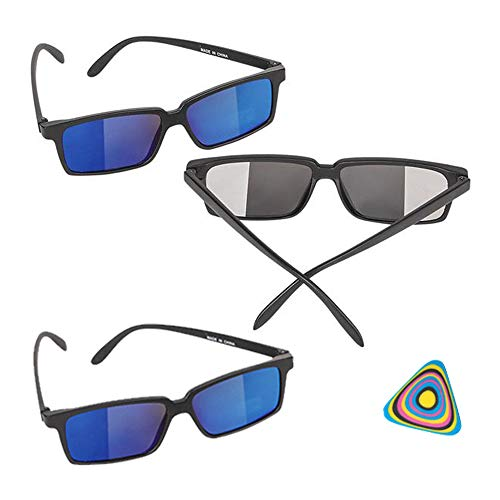Shop Zoombie Spy Glasses with Rear View Mirror Vision to See Behind You - 3 PK and 1 Triangle Eraser - Easter Basket, Stocking Stuffers, Party Supplies, ()