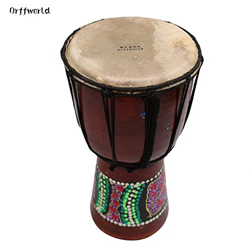 Wooden Hand Drum African Drummer Percussion 6'' Wooden African Style Hand Drum by Puremood