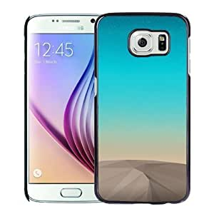 NEW Unique Custom Designed Samsung Galaxy S6 Phone Case With Low Poly Mountain 3D Render Sky_Black Phone Case