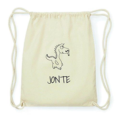 JOllipets JONTE Hipster Turnbeutel Tasche Rucksack aus Baumwolle Design: Drache