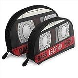 Makeup Bag Retro Plastic Audio Cassette Music Handy Shell Beauty Bags Organizer For Women