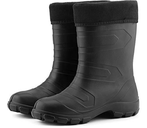 Antideslizantes Seguridad Agua Negro de Zapatos Ligeras Muy de Negro Mujer Botas LALMG879 Ladeheid HqAwSXRR