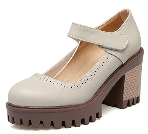 Easemax Womens Unique Platform High Heels Pumps Tacchi Alti E Grigi