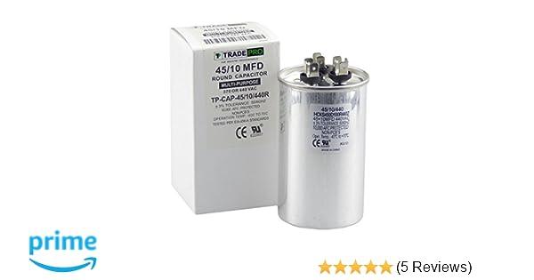 TP-CAP-45//10//440R 45+10 MFD Capacitor UNIVERSAL USE