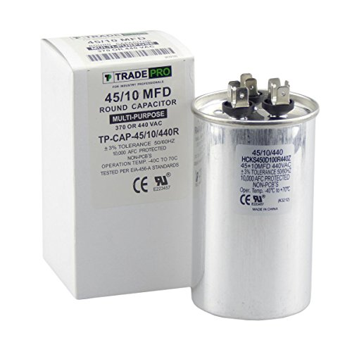 TradePro 45/10 MFD 440 or 370 Volt Round Run Capacitor Replacement - Start Capacitor Wiring