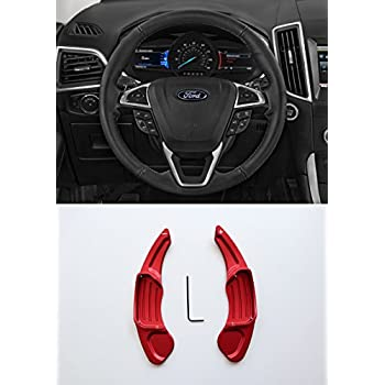 Pinalloy Red Metal Steering Paddle Shifter Extension for Ford Lincoln 2013-2017