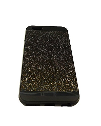 iPhone 5/5s Case ,LA GO GO(TM) Beauty Luxury Hybrid Bling Glitter Soft TPU Gel Shiny Sparkling with Crystal Rhinestone Cover Case for Apple iPhone 5 5s 5g (Black, iPhone 5/5s)