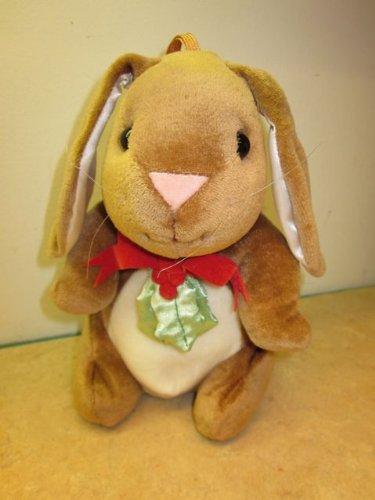 The Velveteen Rabbit Red Felt Ribbon Bow w Holly Target 1985 Rabbit Ears Holiday Plush 9
