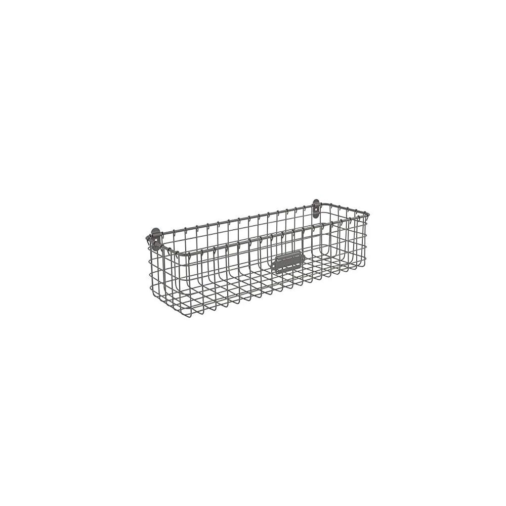 Spectrum Diversified Vintage Basket, Rustic Farmhouse Kitchen Storage Cabinet & Pantry Organizer, Wall-Mounted Storage…