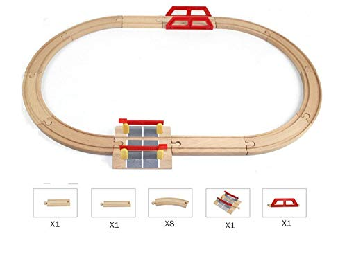 Diecasts & Toy Vehicles - Wooden Railway Straight Curved Expansion Track for Train Take-n-Play Motorized Electric Train Track Master Truck Toys - by SINAM - 1 PCs from SINAM