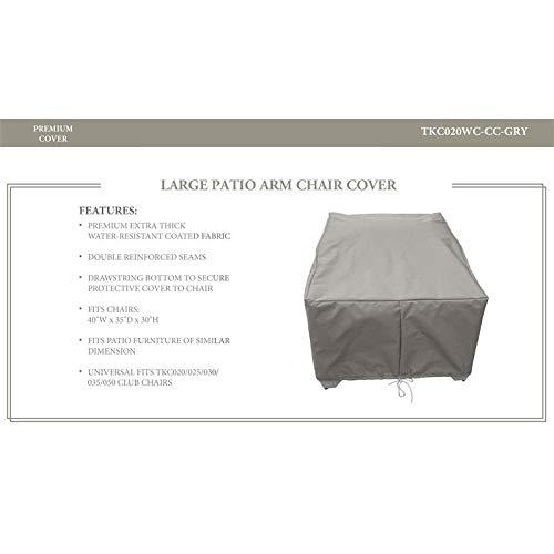 TK Classics Club Chair Protective Cover in Grey