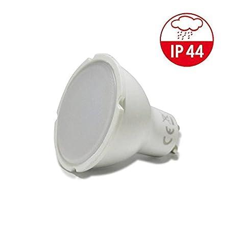 Bombilla LED GU10 5W 490lm 120º IP44 especial baños blanco neutro.: Amazon.es: Iluminación