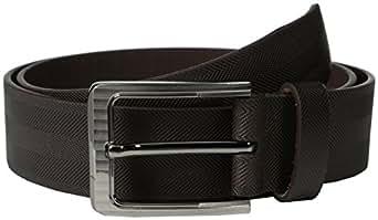 Stacy Adams Men's 38mm Genuine Leather Belt With Herringbone Design, Brown, 32