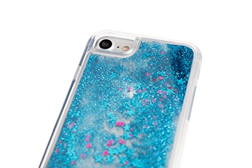 Spada 4052335032412 Liquid Glitter Hülle für Apple iPhone 6/6S/7/8 blau