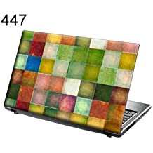 TaylorHe 15.6 inch 15 inch Laptop Skin Vinyl Decal with Colorful Patterns and Leather Effect Laminate MADE IN...