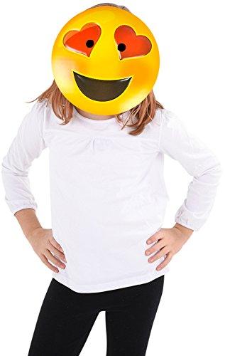 Texting Emoticon Emoji Heart Eyes Face Mask Costume
