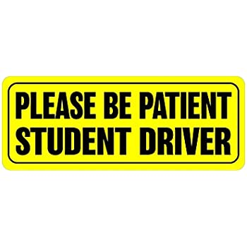 Magnetic Bumper Stickers Student Driver