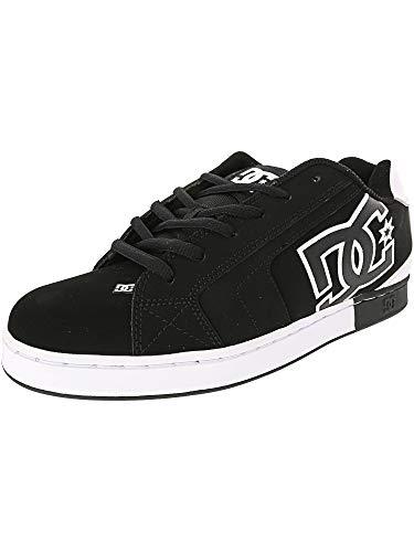 DC Men's Net SE Skate Shoe Black/White, 10.5D D US ()