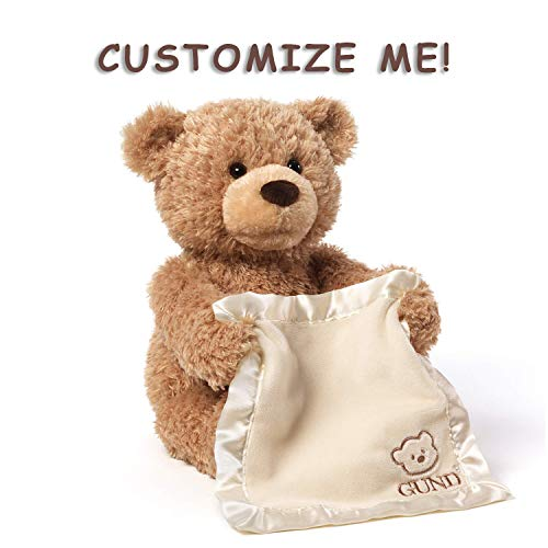 Gund Personalized Peek A Boo Teddy Bear (Brown Peek a Boo Plush -