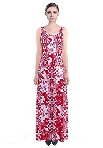 CowCow - Vestido - para mujer Rojo Blanco