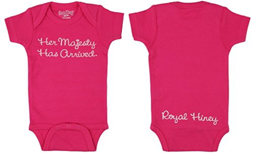 Sara Kety Her Majesty Bodysuit in Hot Pink for Infant Girls