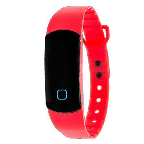 Zunammy Wireless Waterproof Activity Fitness Tracker Watch - Red (See More Colors)