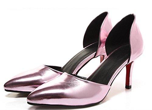 YCMDM BAMBINI ragazze di partito Sandali donna Tacchi alti sandali di sera del partito da sposa , pink , 39