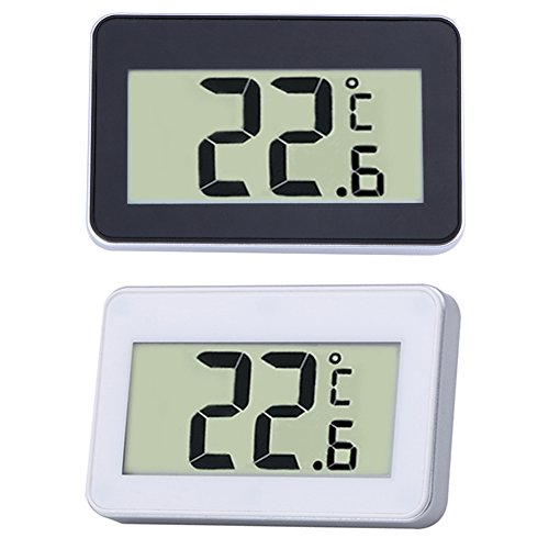 Machine Accessories Digital Lcd Thermometer Temperature Meter W/Magnet Hook For Home Office Room Kitchen Refrigerator Indoor Outdoor White/Black by Machine Accessories (Image #3)