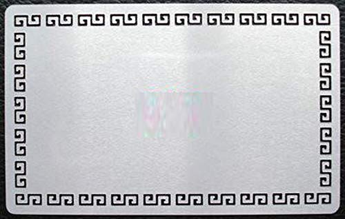 SFS BLANK Metal Pattern Edge Business Card Grey Silver Sublimation Blanks Heat 100 pcs. -