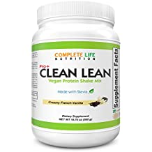 Clean Lean Low Carb Low Sugar Meal Replacement Weight Loss Shake with Stevia - Creamy French Vanilla Natural Vitamin Packed Pea Protein Shake - Paleo with No Artificial Sweeteners - Workout Recovery