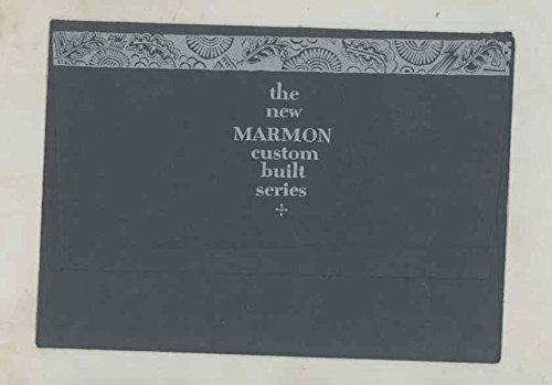 1927 Marmon Model 75 Custom Models Prestige Brochure