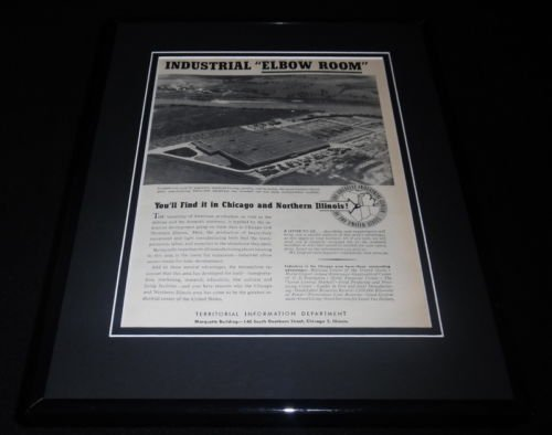 1951 Territorial Information Dept Framed 11x14 ORIGINAL Vintage Advertisement