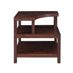 ioHOMES Torsae 3-Shelf End Table, Vintage Walnut