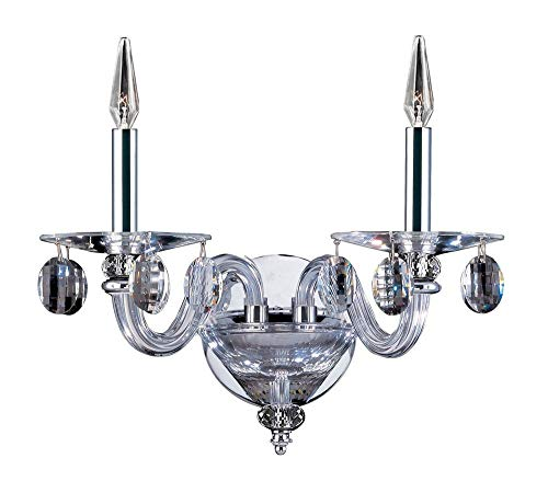 (Allegri 11525-010-FR001 Fanshawe - Two Light Wall Bracket, Firenze Clear Crystal )
