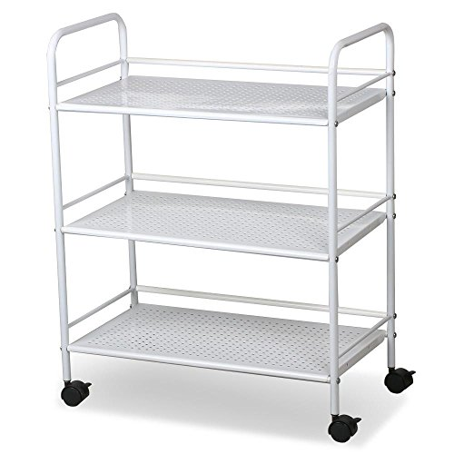 Facial Trolley - World Pride Rolling Salon Trolley Cart, 3 Tier, White